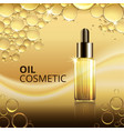 bright cosmetic oil ads template vector image vector image