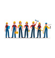 builders group construction industry people team vector image