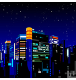 Building night city vector image vector image