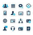 business technology icons azure series vector image vector image