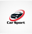 car sport logo designs concept icon element and vector image