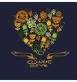 Cartoon hearts background vector image
