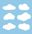 cloud design can use as speech clouds for network vector image vector image