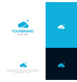 cloud with rocket logo template vector image