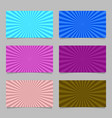 colored abstract ray burst card background vector image vector image
