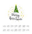 congratulations merry christmas 2019 banner vector image vector image