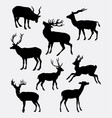 deer animal activity silhouette vector image vector image