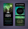 disco cocktail identity templates disco background vector image