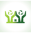 Eco friendly home made by hand protecting nature vector image