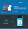 electronic education with smartphone vector image vector image