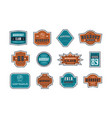 emblems and badges set workout club vector image vector image