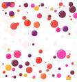 festive multicolored circles vector image