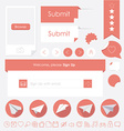 flat design trendy web elements vector image vector image