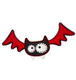 funny flying bat with contours in form of vector image