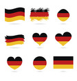 germany flag official colors and proportion vector image vector image