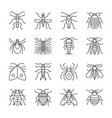 insect thin line icon set editable stroke vector image vector image