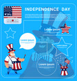 man wear united states flag colored flag vector image vector image