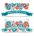 medical banners set vector image vector image