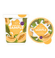 melon yogurt packaging design template vector image vector image