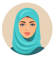 muslim arab woman in colored hijab arabian vector image vector image