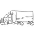 outlined cartoon truck vector image vector image