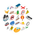 overview icons set isometric style vector image vector image