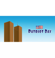 Patriot Day with usa flag and twin towers vector image