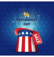 Poster USA Presidents day MEGA SALE vector image vector image