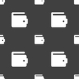 purse icon sign Seamless pattern on a gray vector image