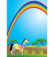 rainbow and zebra vector image