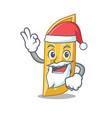 santa penne pasta character cartoon vector image vector image