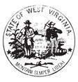 seal state west virginia 1876 vintage vector image vector image
