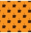 seamless background with coffee cups vector image vector image