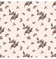 seamless floral pattern brown flower vector image vector image