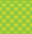 seamless pattern on the green background vector image