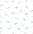 seamless pattern with gulls on white background vector image