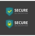 Secure connection label on dark background vector image vector image