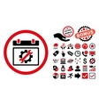 Service Day Flat Icon with Bonus vector image vector image