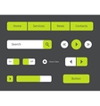 set of green web buttons vector image