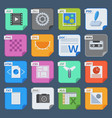 square file types and formats labels icons vector image vector image