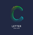 the letter c latin alphabet display vector image