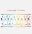 timeline infographic for nine position vector image vector image