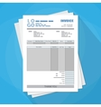 unfill paper invoice form tax receipt bill vector image vector image