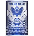 Vintage vodka label for packing layered