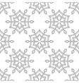 Zentangle stylized winter ice snowflake seamless vector image vector image