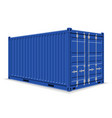 cargo container for the delivery and vector image