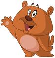 happy bear waving vector image