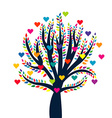 Love tree isolated over white background vector image