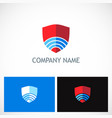 shield technology company logo vector image