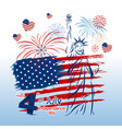 4 july independence day design vector image vector image